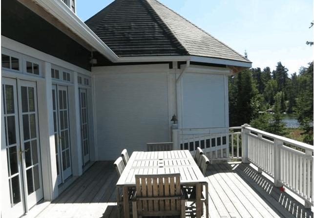pentagon patio view